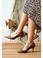Pembe Potin Ayakkabı Taba
